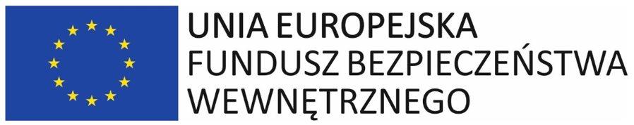 Logo Unii Europejskiej - Fundusz Bezpieczeństwa Wewnętrznego